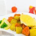 Рецепт тижня: Запечена гарбуз з картоплею і куркою